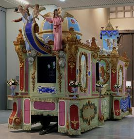 Il carro esposto a Torino