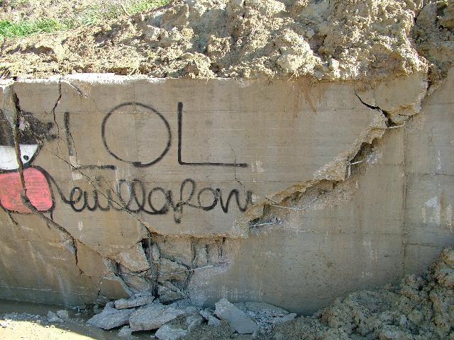 il muro di recinto Rota (Foto Martemix)