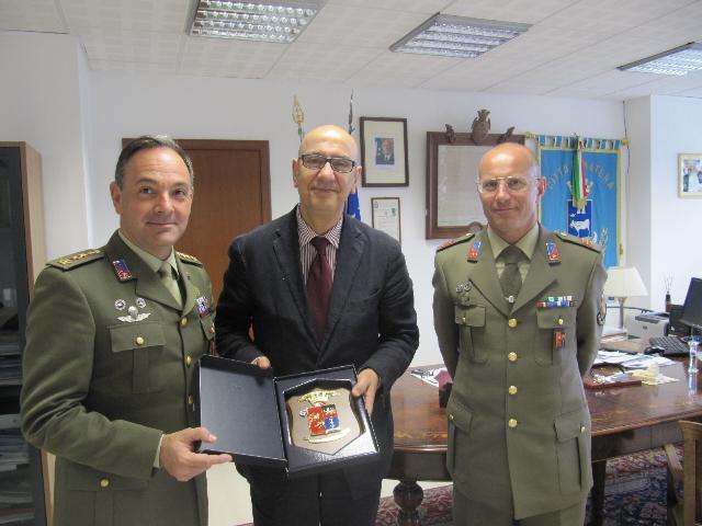 Il sindaco Adduce incontra il col. Bolognese