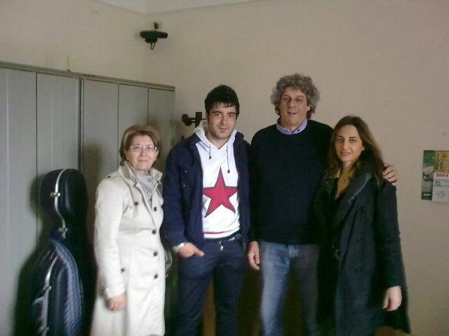 L´allievo Marco Cornacchia,il direttore Vizziello, la presidente Fabrizio e la presidente eletta Maffei del Conservatorio di Matera