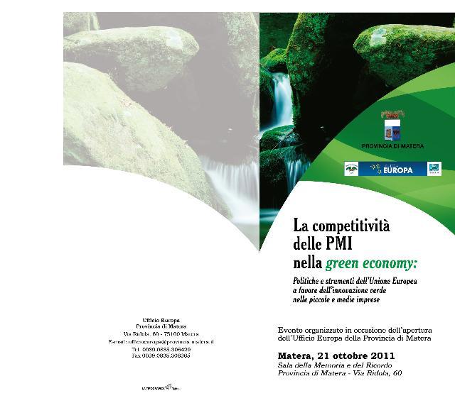 La competitività delle piccole e medie imprese nella green economy