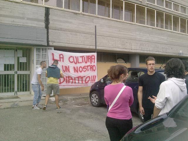 Manifestazione degli studenti del Liceo Artistico di Matera
