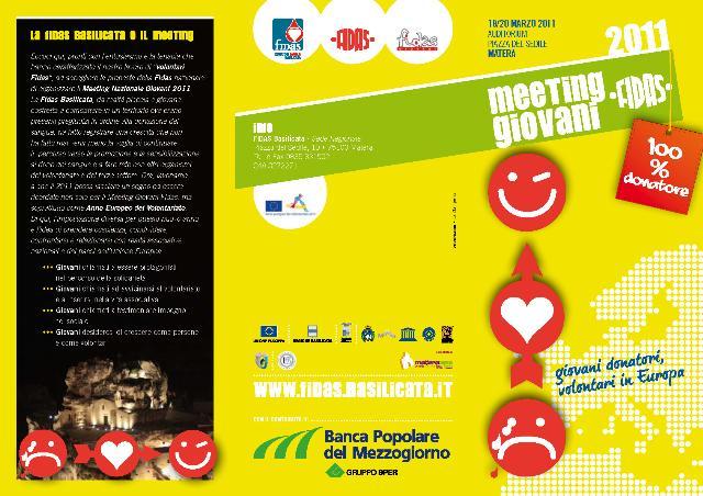 Meeting Giovani FIDAS a Matera dal 18 al 20 MARZO 2011