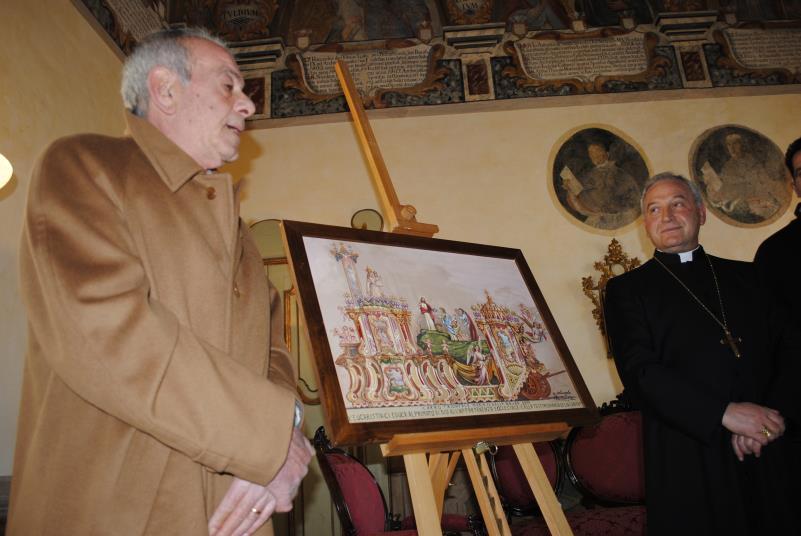 Michelangelo Pentasuglia, Mons. Salvatore Ligorio, bozzetto 2011 (foto SassiLand)