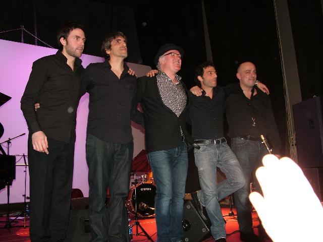 Nick the Nightfly e la band (foto Martemix)