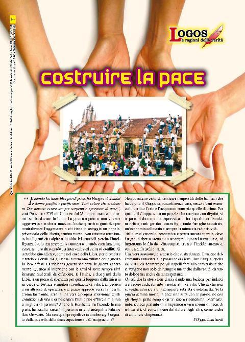 Pagina 1 di Logos del 15 aprile, quindicinale della Diocesi di Matera