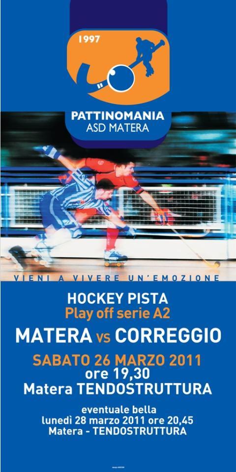 Pattinomania - Matera vs Correggio - 26 marzo 2011