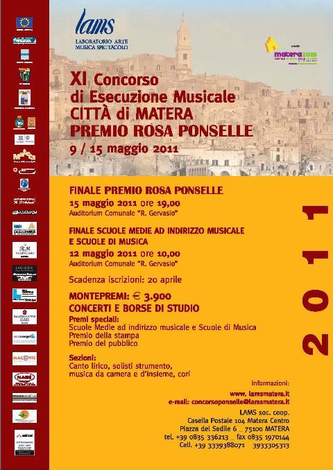PREMIO ROSA PONSELLE, XI EDIZIONE