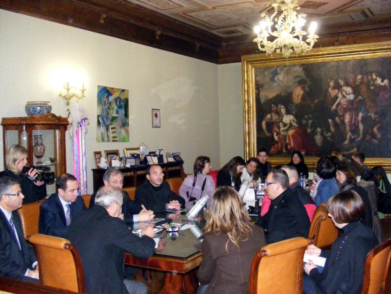 Presidente Franco Stella e delegazione ungherese