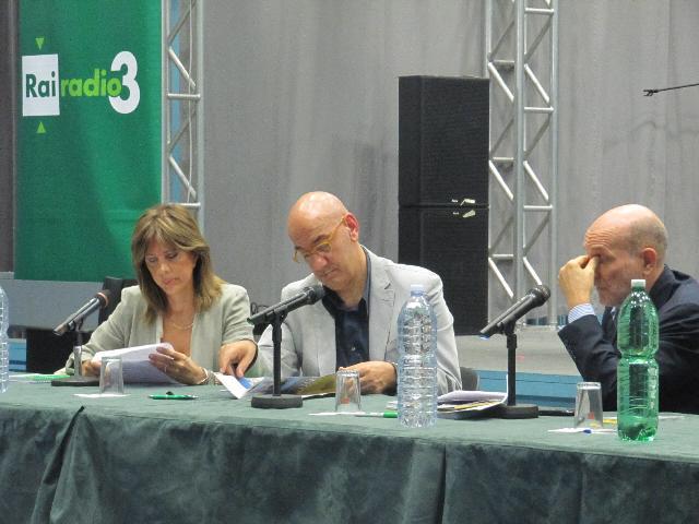 Salvatore Adduce alla conferenza stampa di presentazione di Materadio