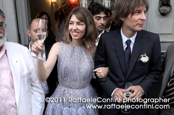 Sofia Coppola e Thomas Mars appena sposati (foto: courtesy of Raffaele Contini)