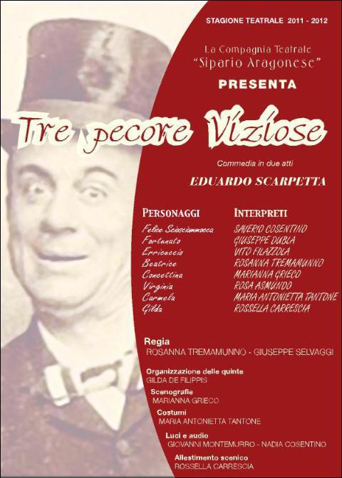 Tre pecore viziose - Compagnia teatrale Sipario Aragonese