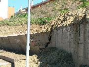 i gravi danni in recinto Nino Rota (foto Martemix)