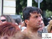 Il sosia di Stallone tra i curiosi al matrimonio di Coppola (foto Martemix)