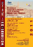 PREMIO ROSA PONSELLE, XI EDIZIONE - Matera