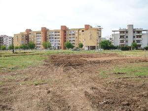Rond� in costruzione adiacente via Gonzaga (Quartiere Europa ex
