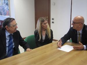 Salvatore Adduce incontra il difensore civico regionale, Catello Aprea, e Carmela Risimini, dell�ufficio del difensore civico regionale - Matera