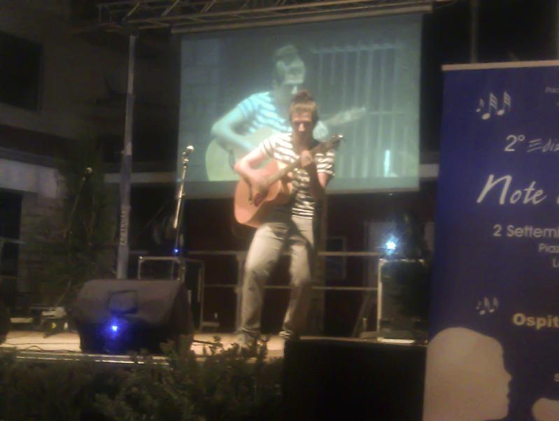 Antonello Fiamma sul palco di Note di Settembre 2012