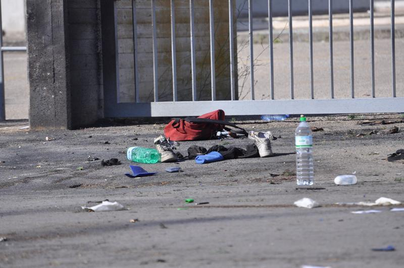 Attentato davanti scuola di Brindisi, 19 maggio 2012 (foto BrindisiReport.it))