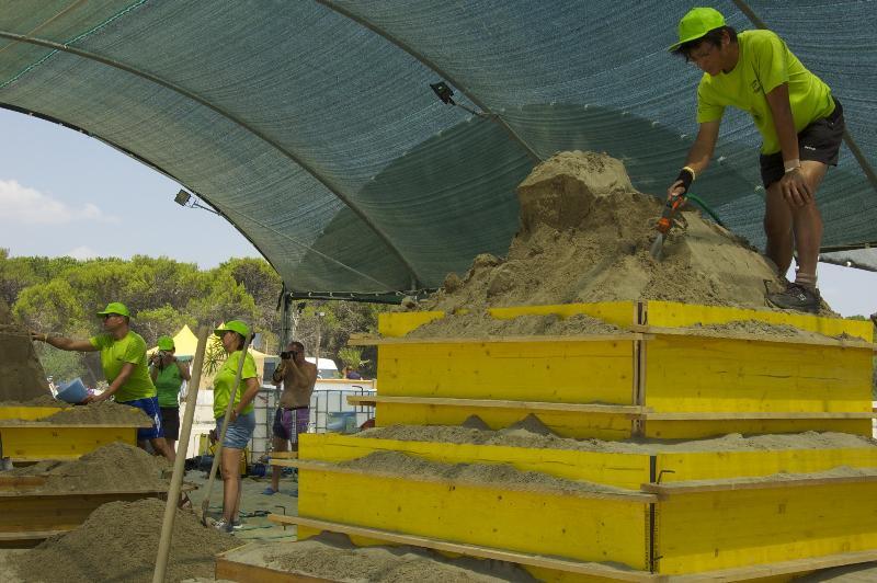 Avvio dei lavori per Meraviglie di Sabbia 2012
