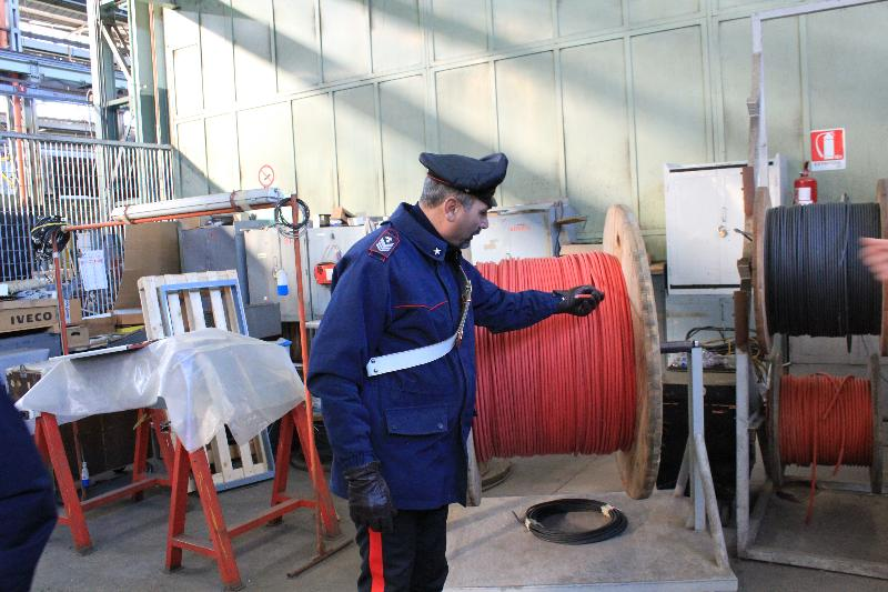 Bobina recuperata dai Carabinieri