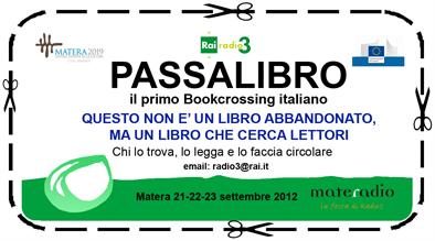 Bookcrossing per Materadio 2012