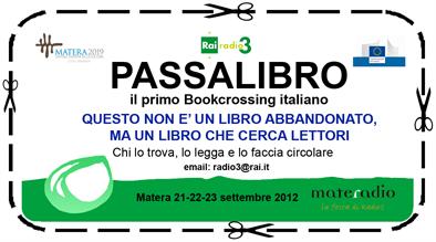 Bookcrossing per Materadio 2012