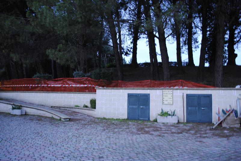 Cantiere al Campo Scuola di Matera