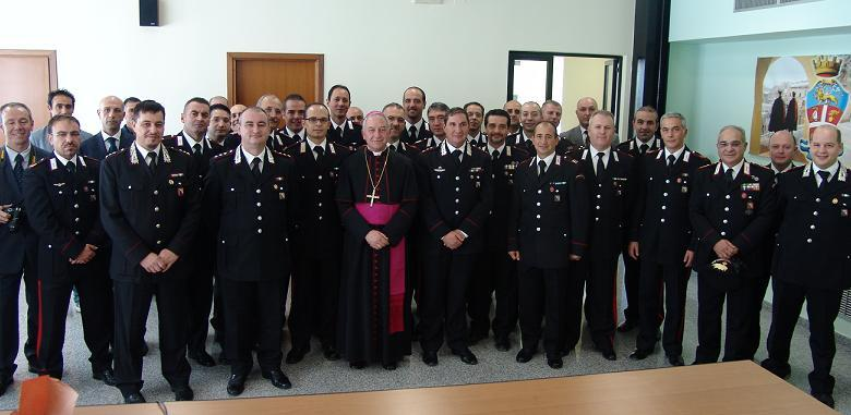 Carabinieri di Matera con Mons. Salvatore Ligorio
