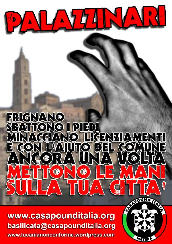 Manifesto Casapound - 10 ottobre 2012