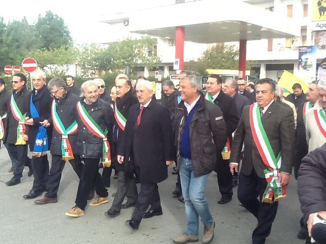Corteo contro le trivelle nel Mar Jonio - 17 dicembre 2012