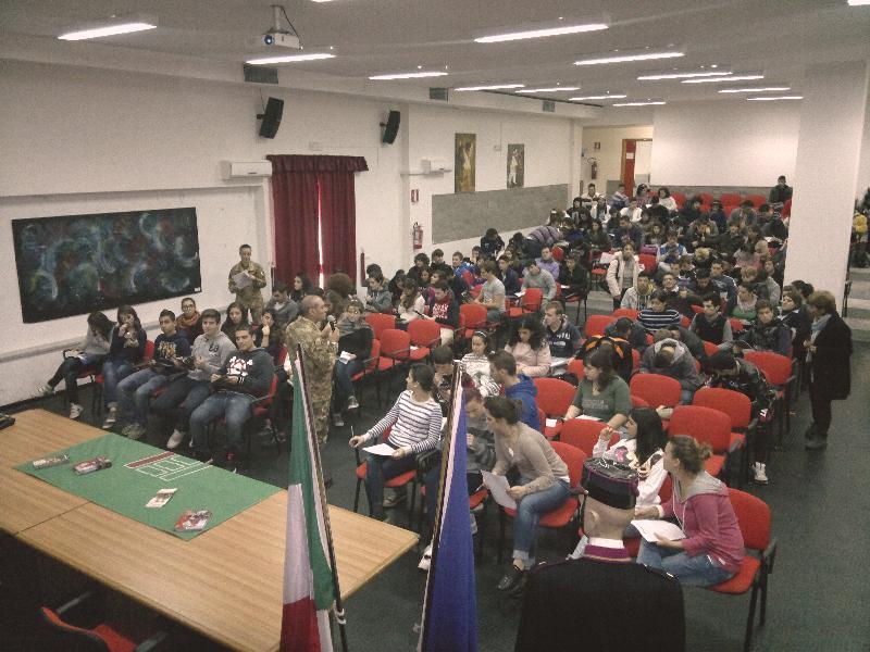 Esercito nelle scuole, tappa di Irsina del 22 novembre 2012