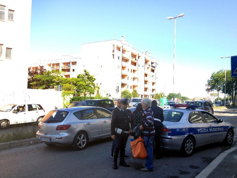 Il luogo in cui la donna è stata investita(Foto: courtesy of Raffaele Contini)