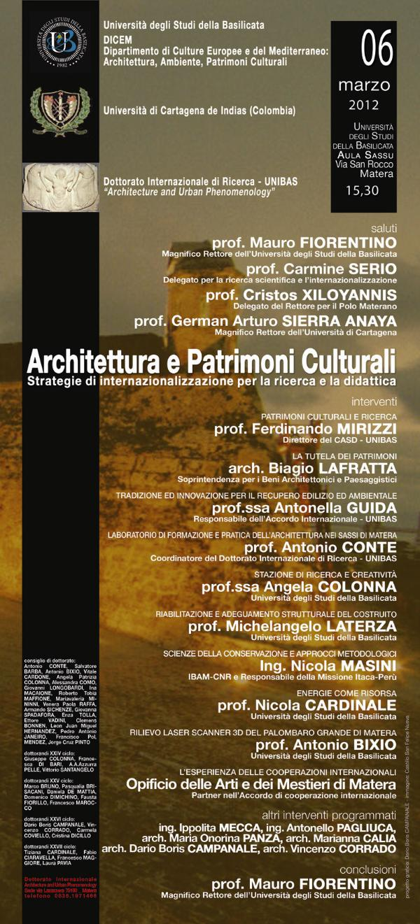 Gemellaggio Matera-Cartagena