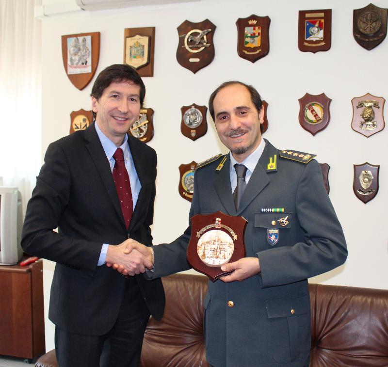 Gianfranco Bernabei e Col. Elia Carmelo Pallaria