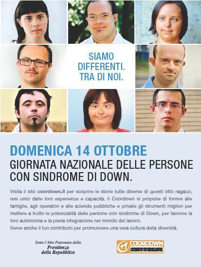 Giornata nazionale con le persone con sindrome di Down