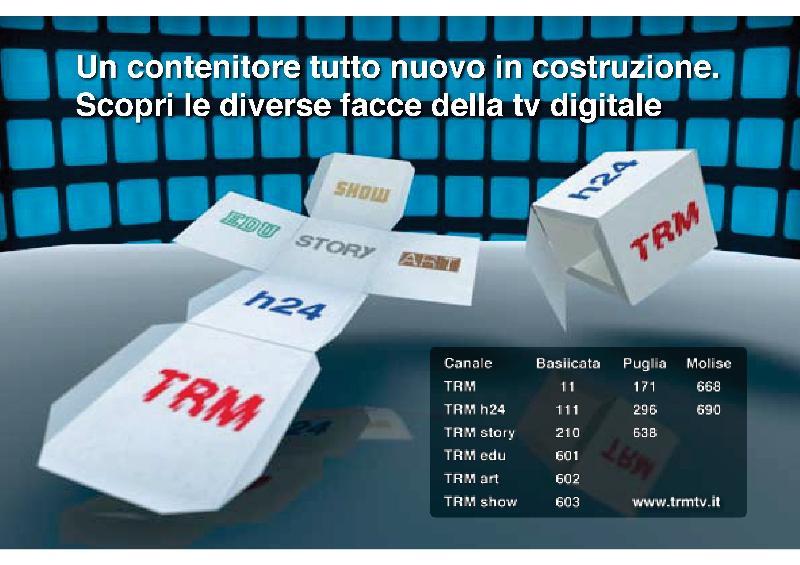 I canali di TRM sul digitale terrestre