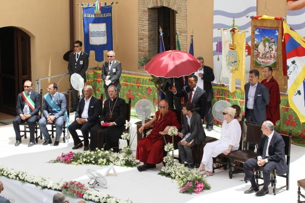Il Dalai Lama a Sant´Arcangelo