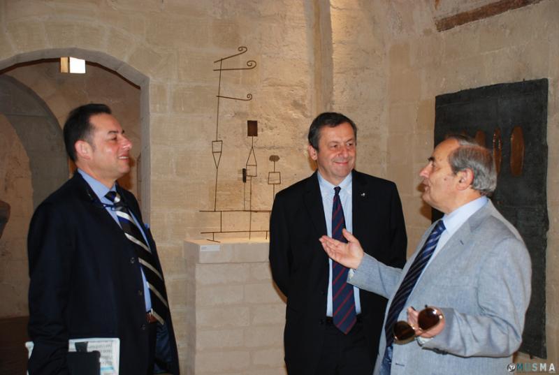 Il Ministro Profumo e il vicepresidente del Parlamento Europeo  Pittella al MUSMA