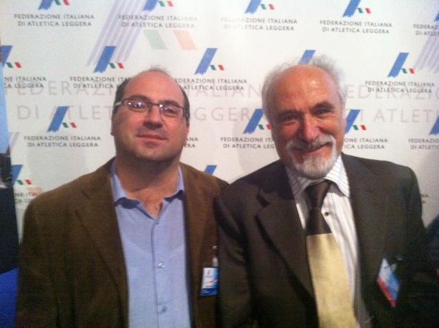 Il Presidente FIDAL Alfio GIOMI con il Emanuele Vizziello
