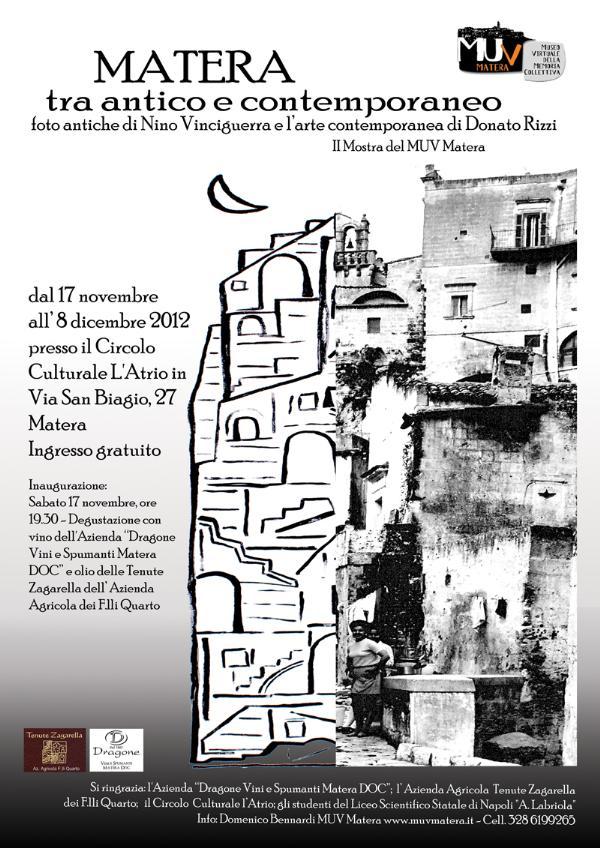 Matera tra antico e contemporaneo - dal 17 novembre al 8 dicembre 2012