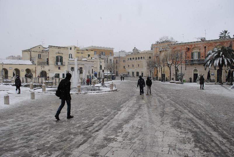 Neve a Matera - 07 febbraio 2012 (foto SassiLand)