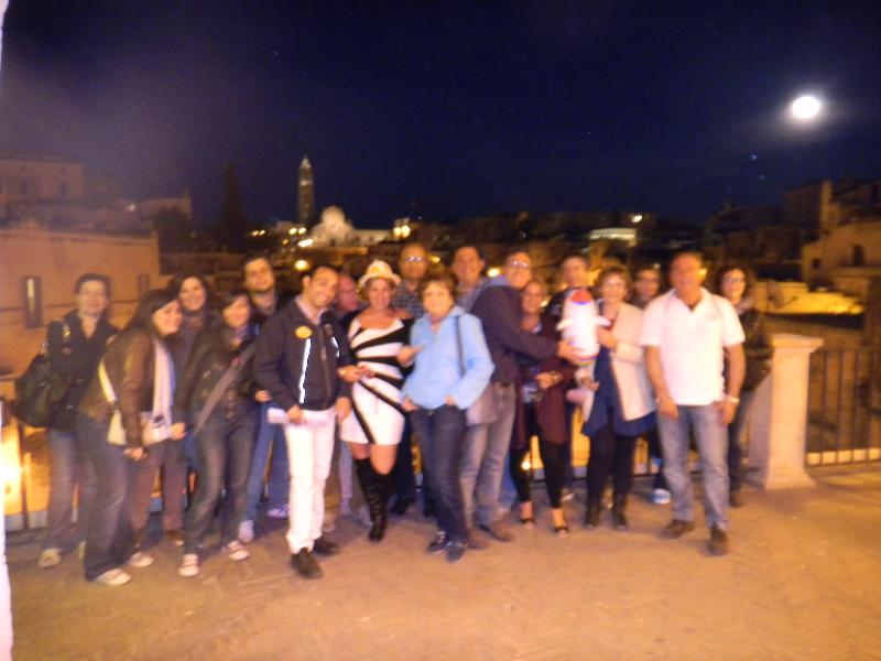 Passeggiata al chiaro di luna a Matera