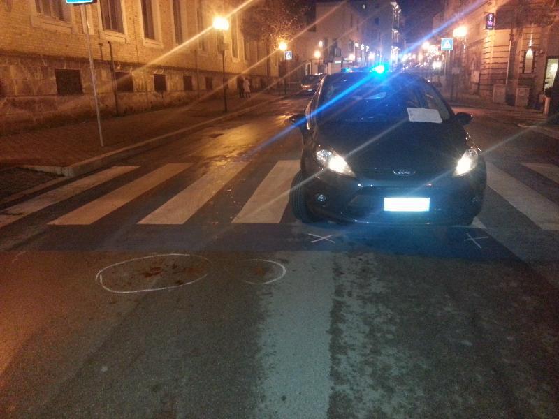 Pedone investito in via Lucana - 8 dicembre 2012