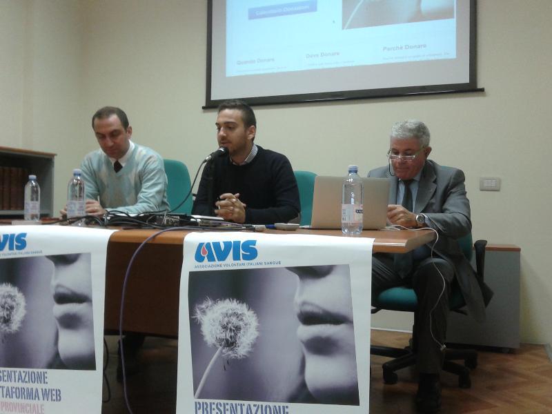 Presentazione del sito web dell´Avis Provinciale di Matera - 16 novembre 2012 (foto SassiLand)