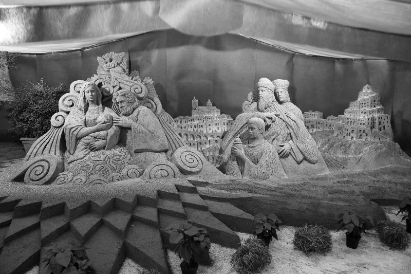 Presepe di sabbia di Leonardo Ugolini a Pisticci