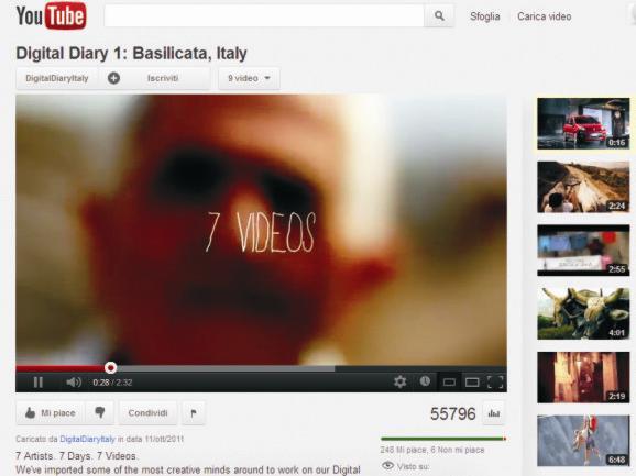 Screenshot di Youtube - Progetto Digital Diary