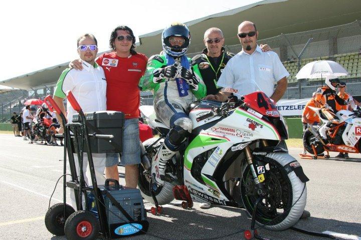 Raffaele Rubino in pista A nel trofeo Bridgestone