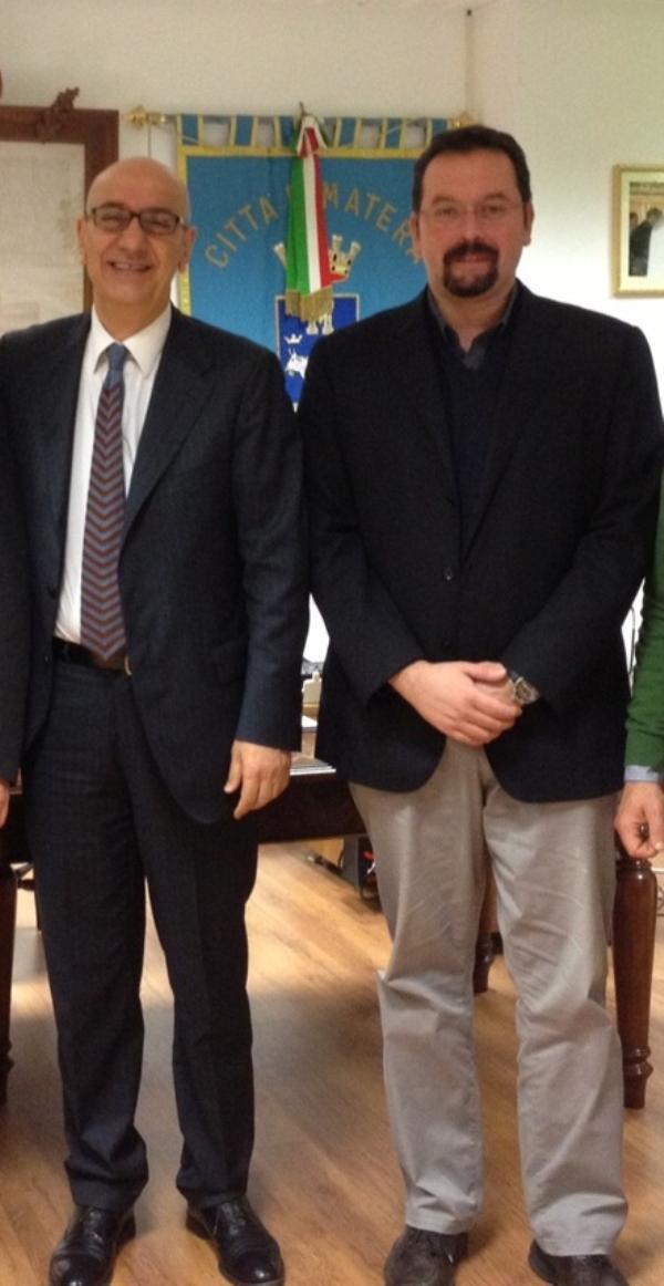 Salvatore Adduce e Andrea Cernicchi, assessore alla Cultura del Comune di Perugia