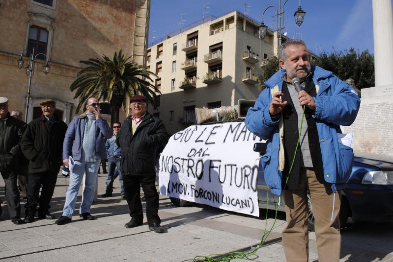 Sit-in del Movimento dei Forconi Lucani a Matera - 28 gennaio 2011